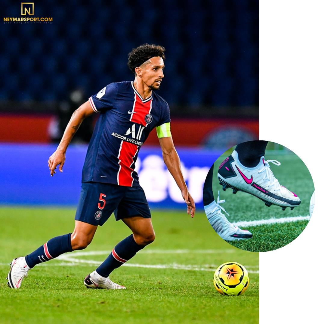 Marquinhos mang giày đá banh Nike Phantom GT Elite FG