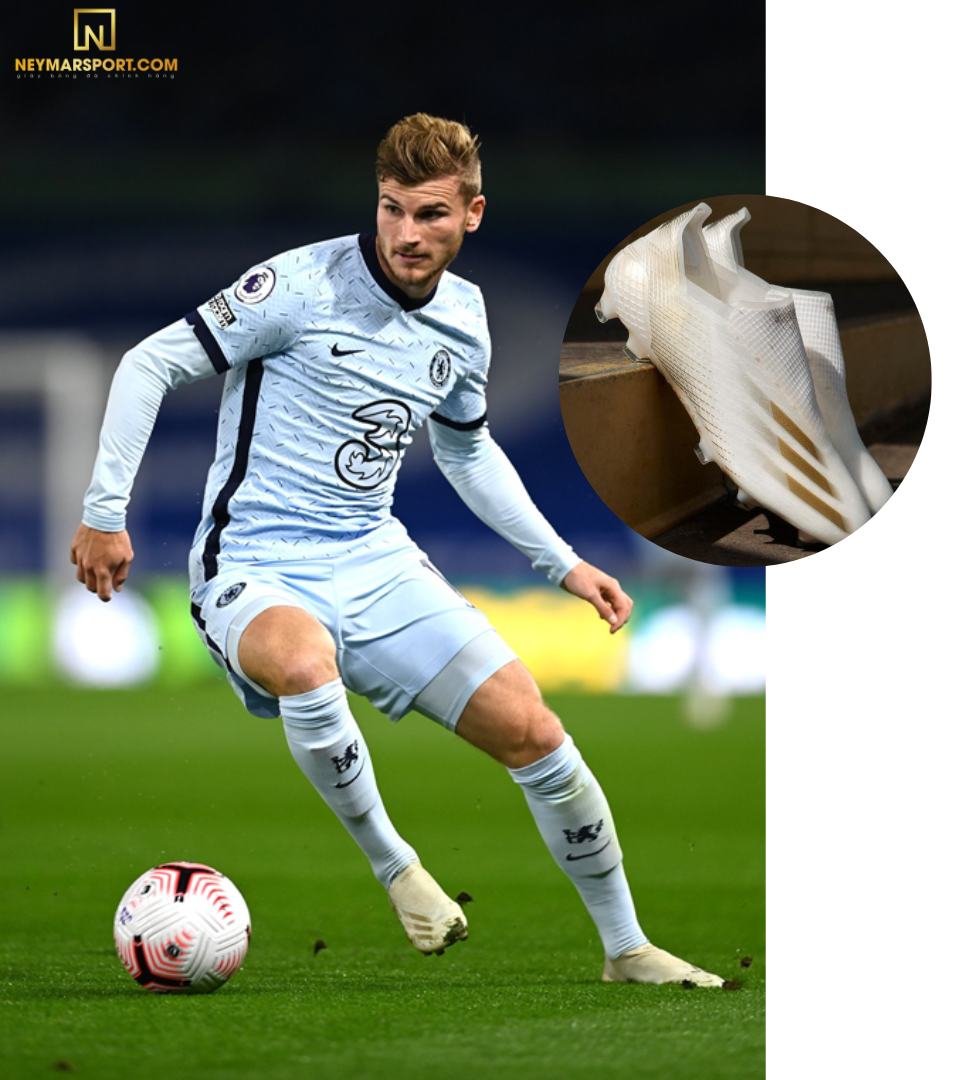 Timo Werner mang giày đá banh Adidas X Ghosted.1