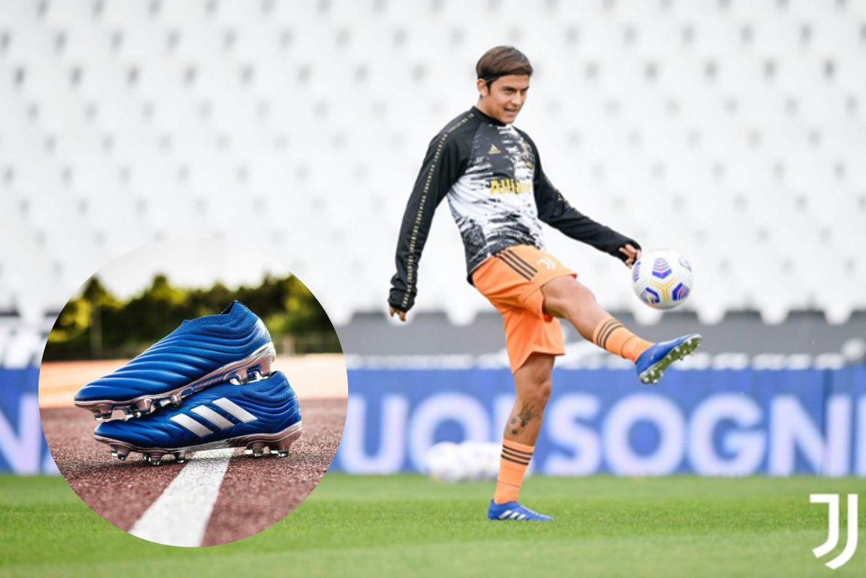 Dybala mang giày đá bóng Adidas Copa 20+ Inflight Pack tập luyện trên sân