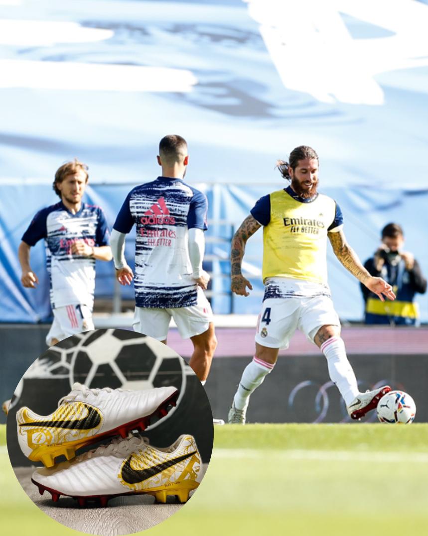 Ramos mang giày đá banh Nike Tiempo 7 Elite