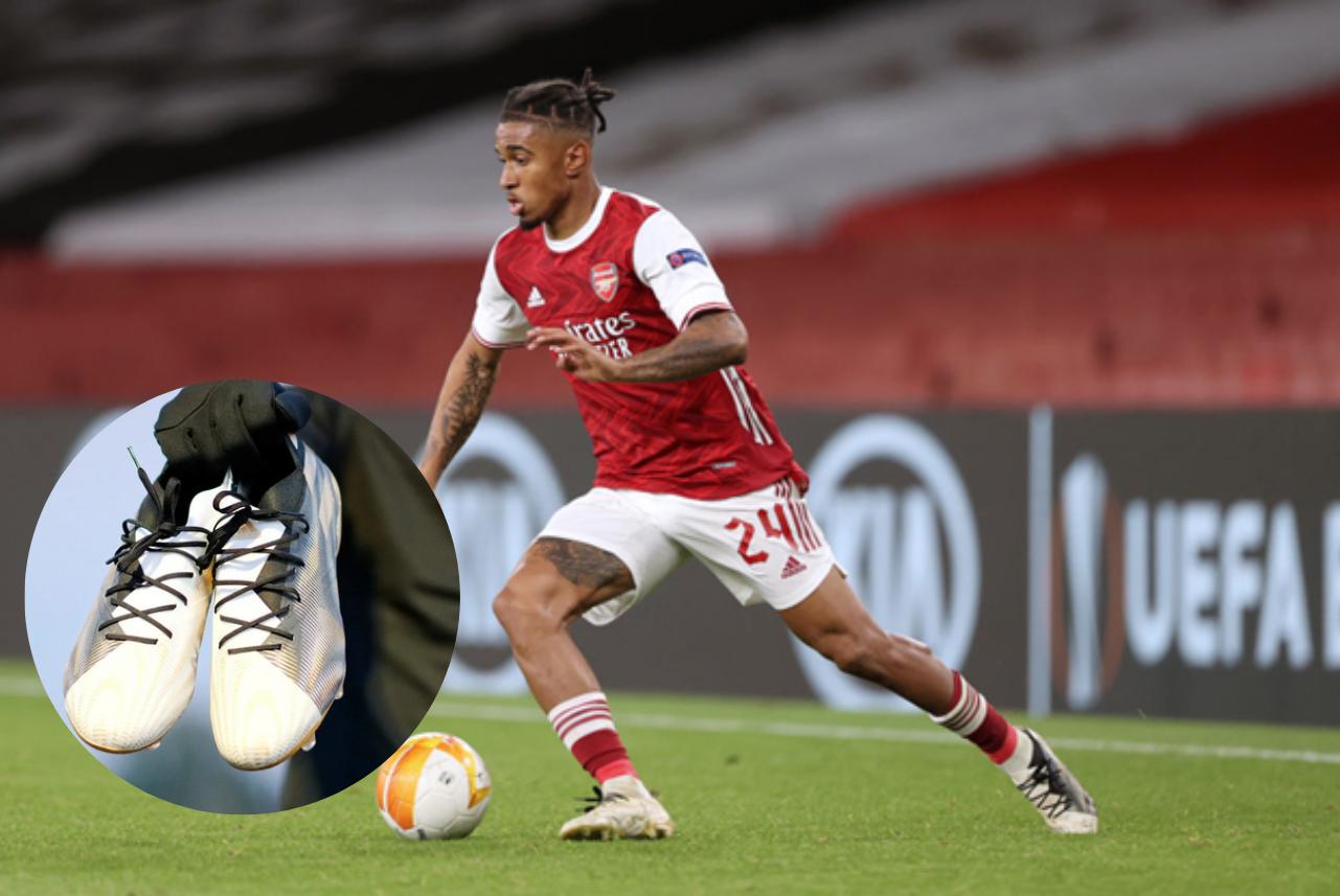 Reiss Nelson mang giày đá banh adidas Nemeziz Atmospheric Pack