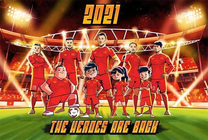 Cảm hứng cho sản phẩm áo đấu đội tuyển Việt Nam 2021