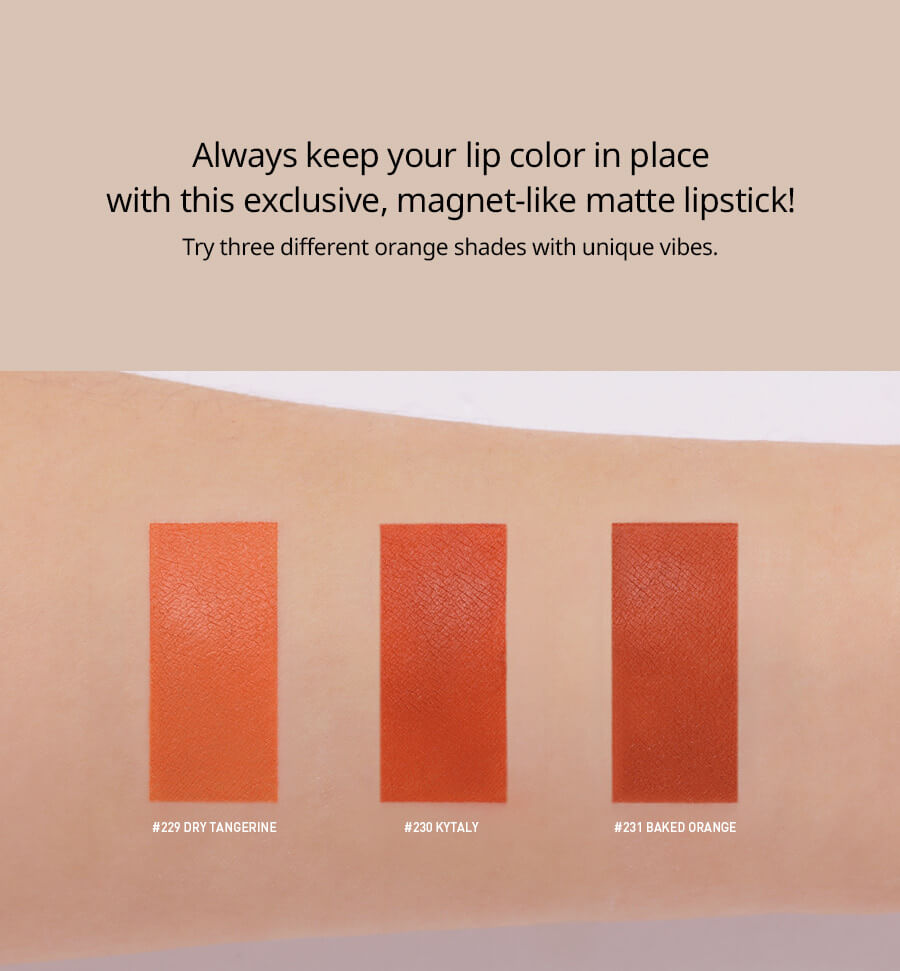 Son Lì 3CE Lip Color Matte #231 Baked Orange