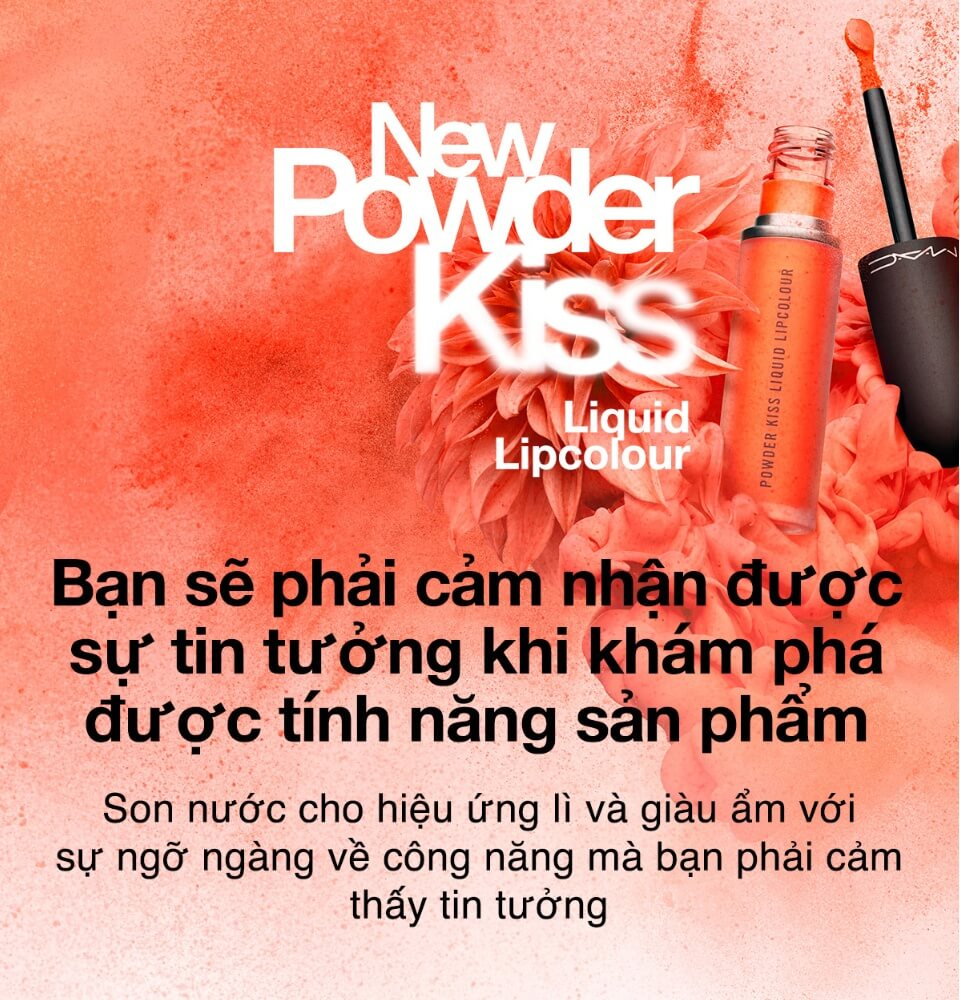 Son Kem Mac Powder Kiss Liquid Lipcolour 992 Resort Season Cam Neon