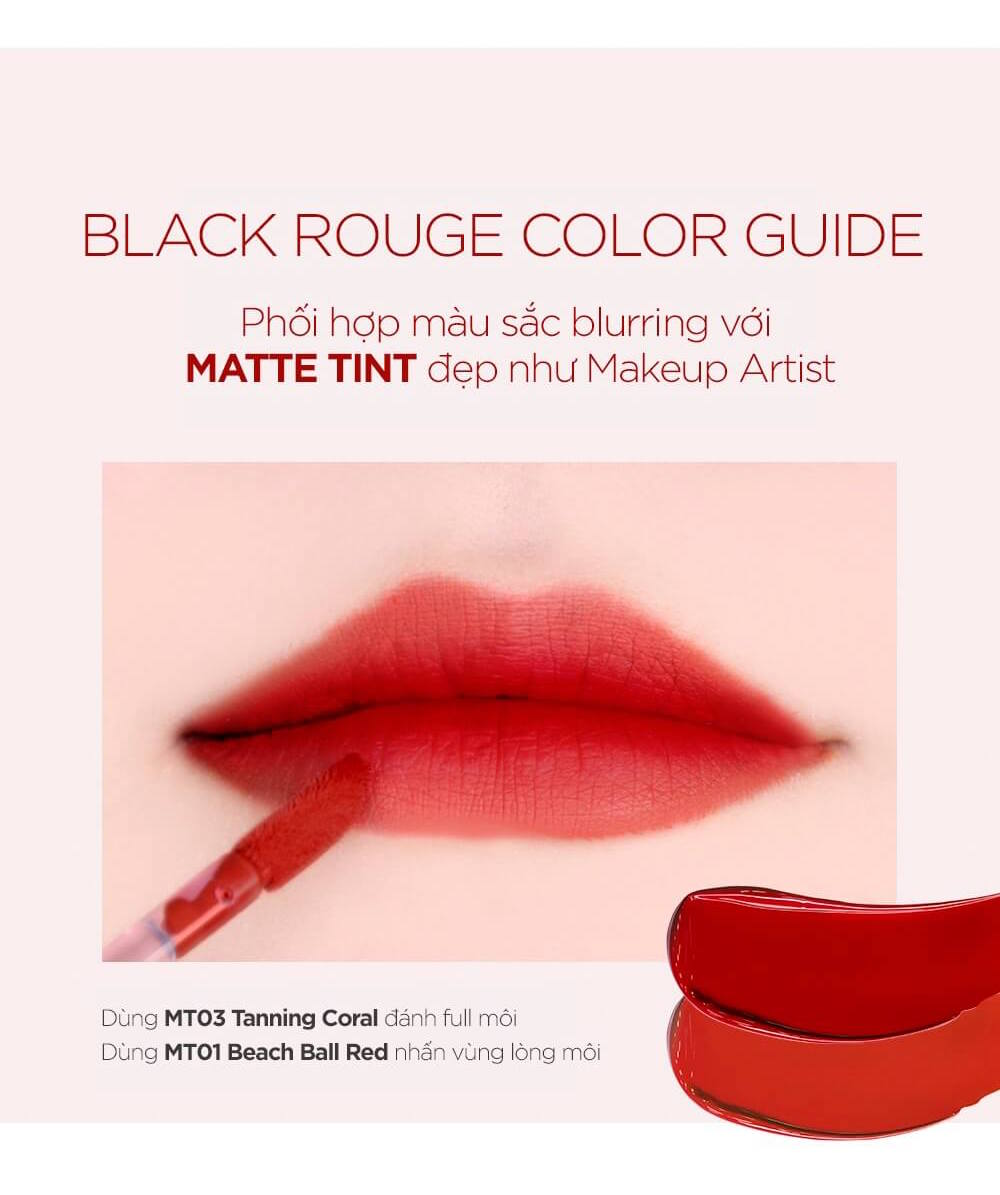 Son Kem Lì Black Rouge Power Proof Matte Tint MT03