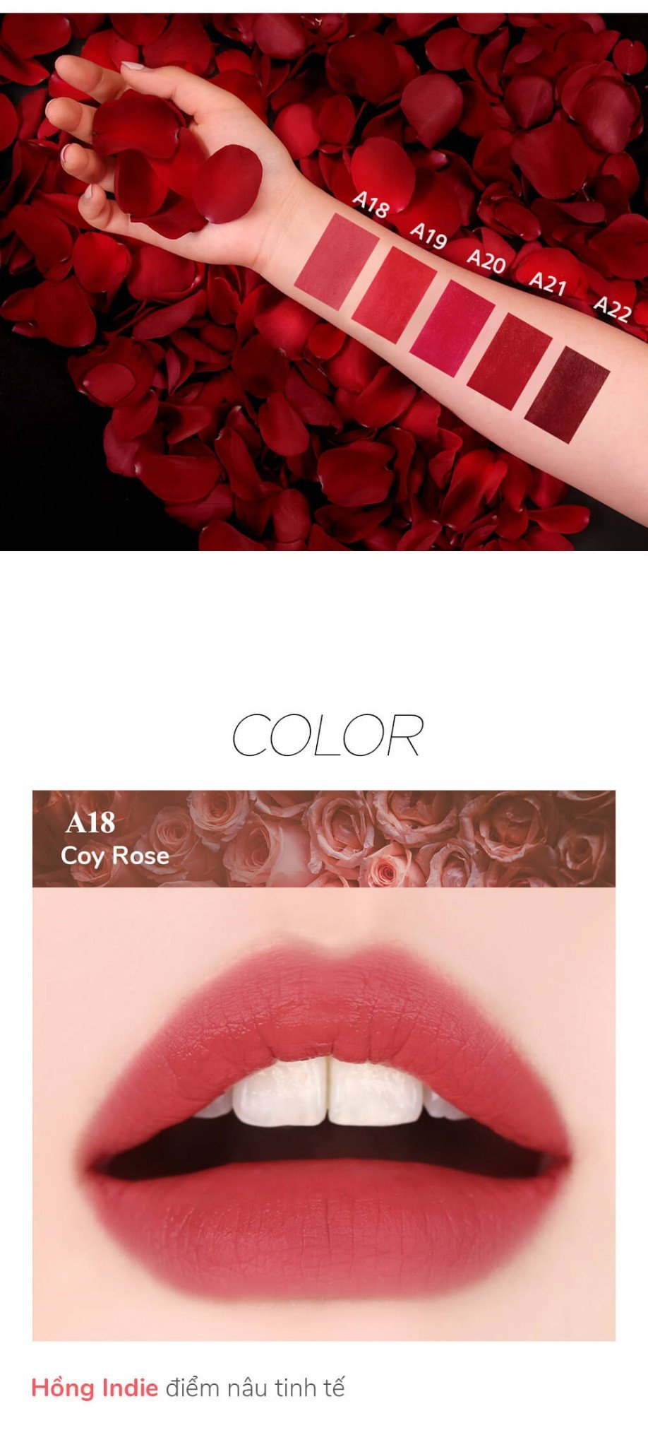 Black Rouge Air Fit Velvet Tint Ver.4 Bad Rose