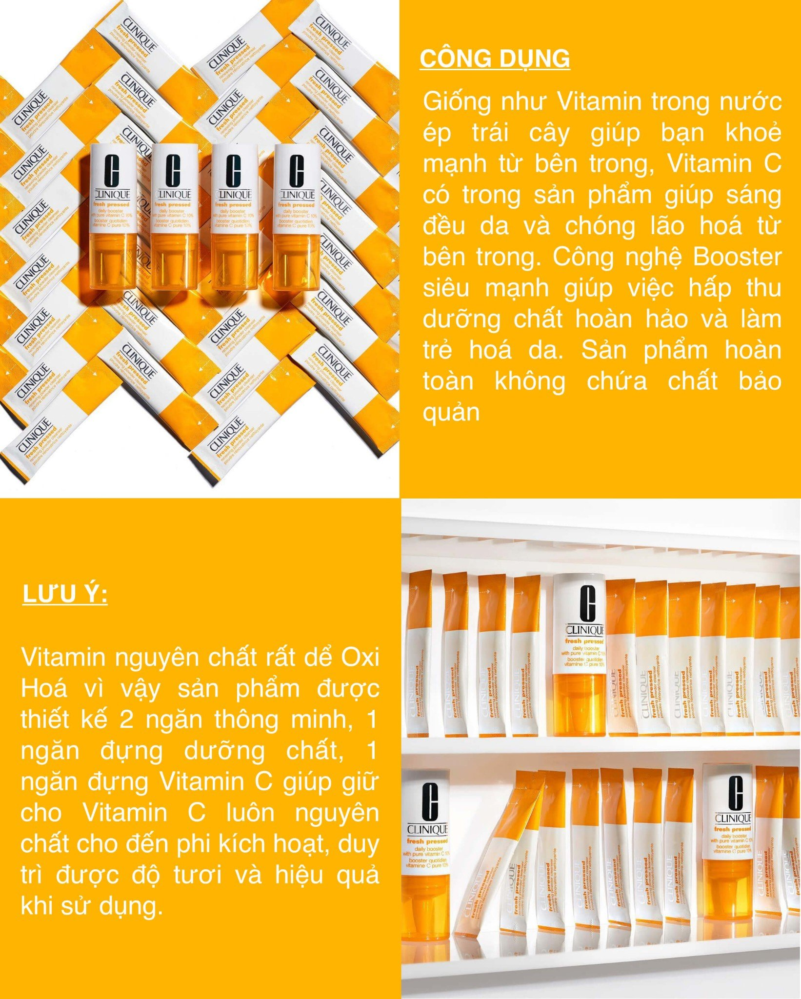 Clinique Fresh Pressed Daily Booster with Pure Vitamin C 10% 8.5ml x 4
