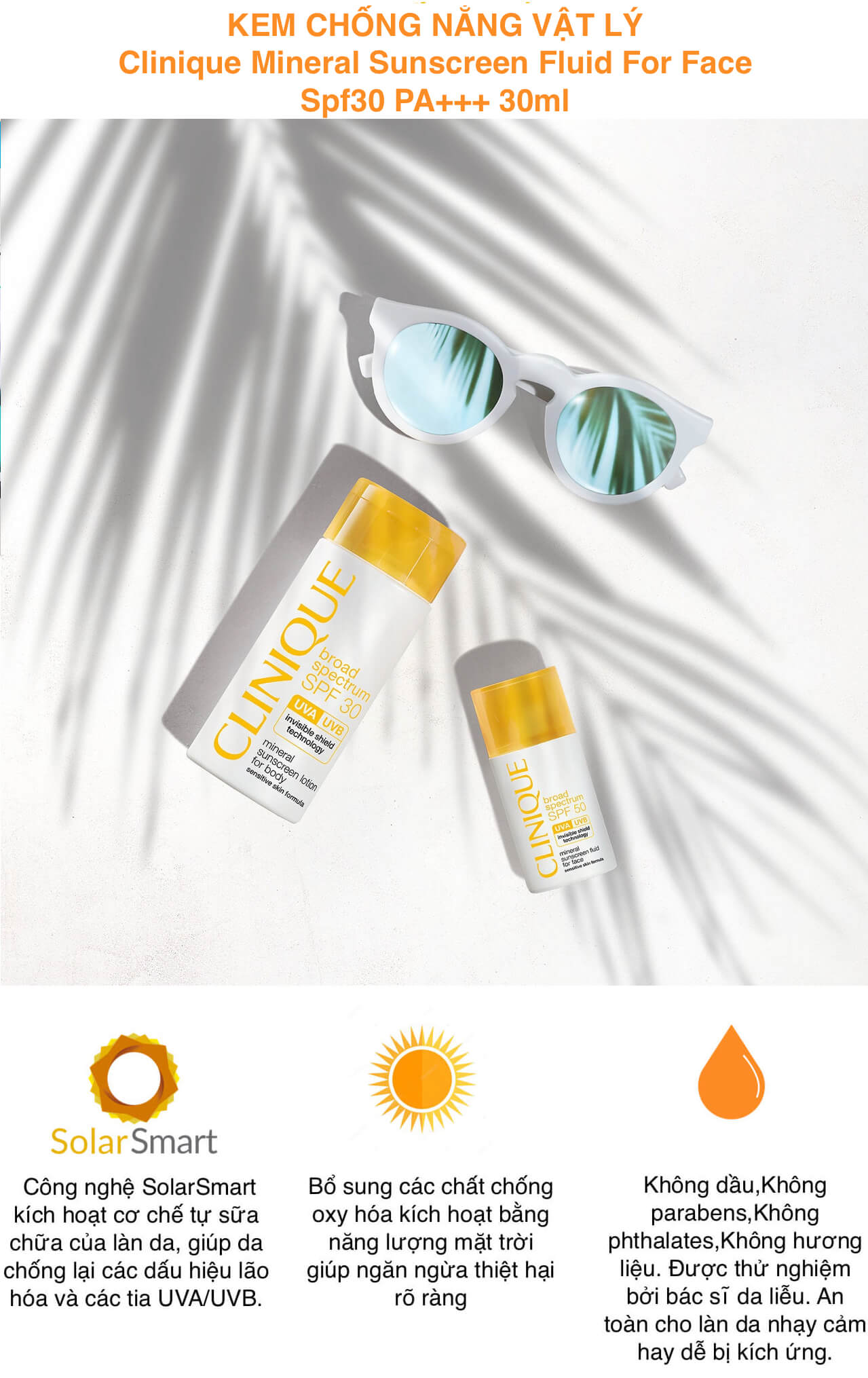 Clinique Mineral Sunscreen Fluid For Face Spf30 PA+++ 30ml