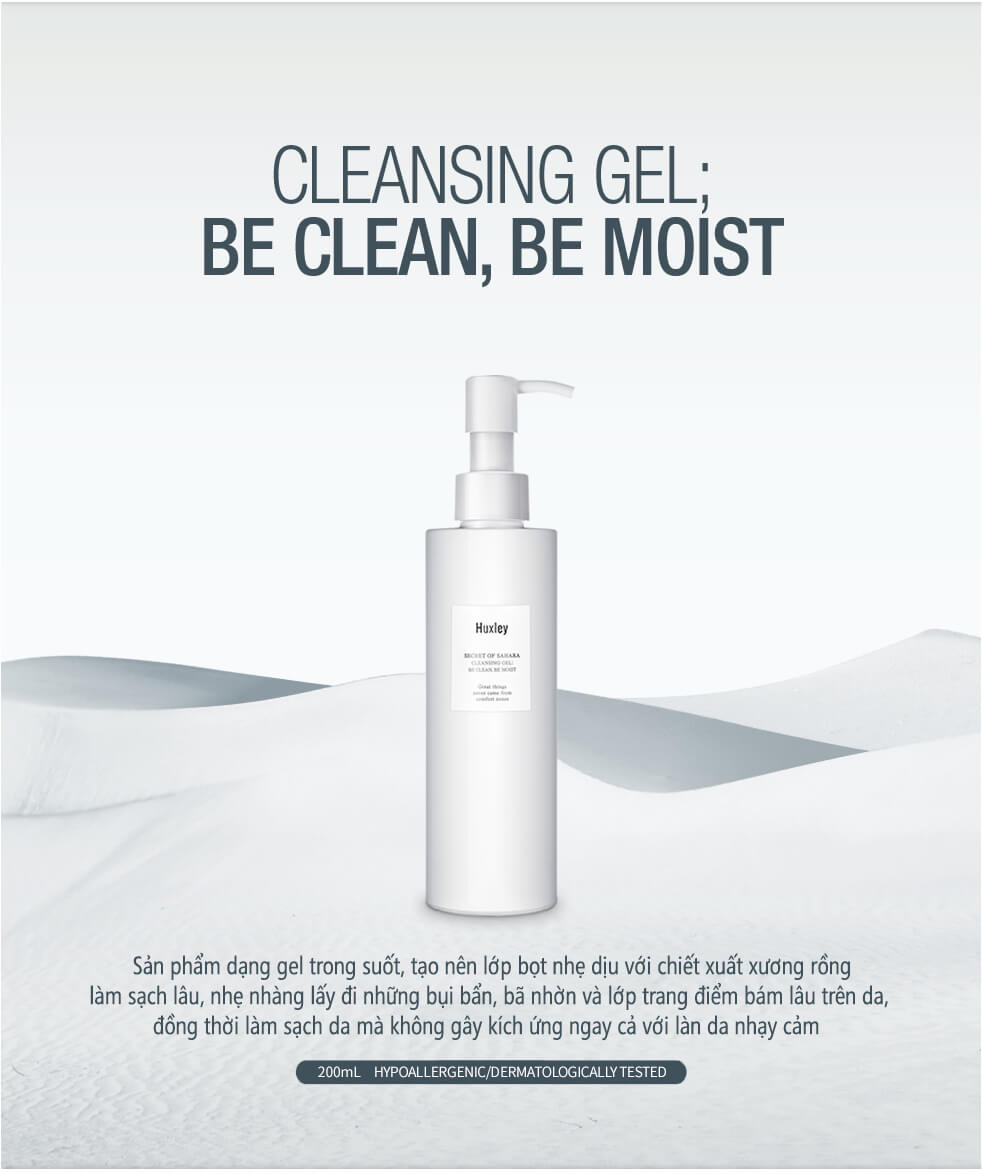 Huxley Secret Of Sahara Cleansing Gel Be Clean Be Moist 200ml