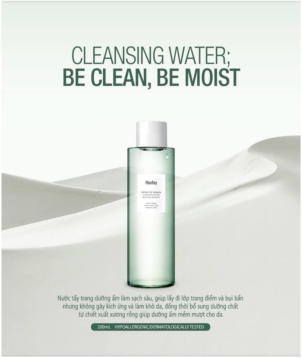 Huxley Cleansing Water Be Clean Be Moist 200
