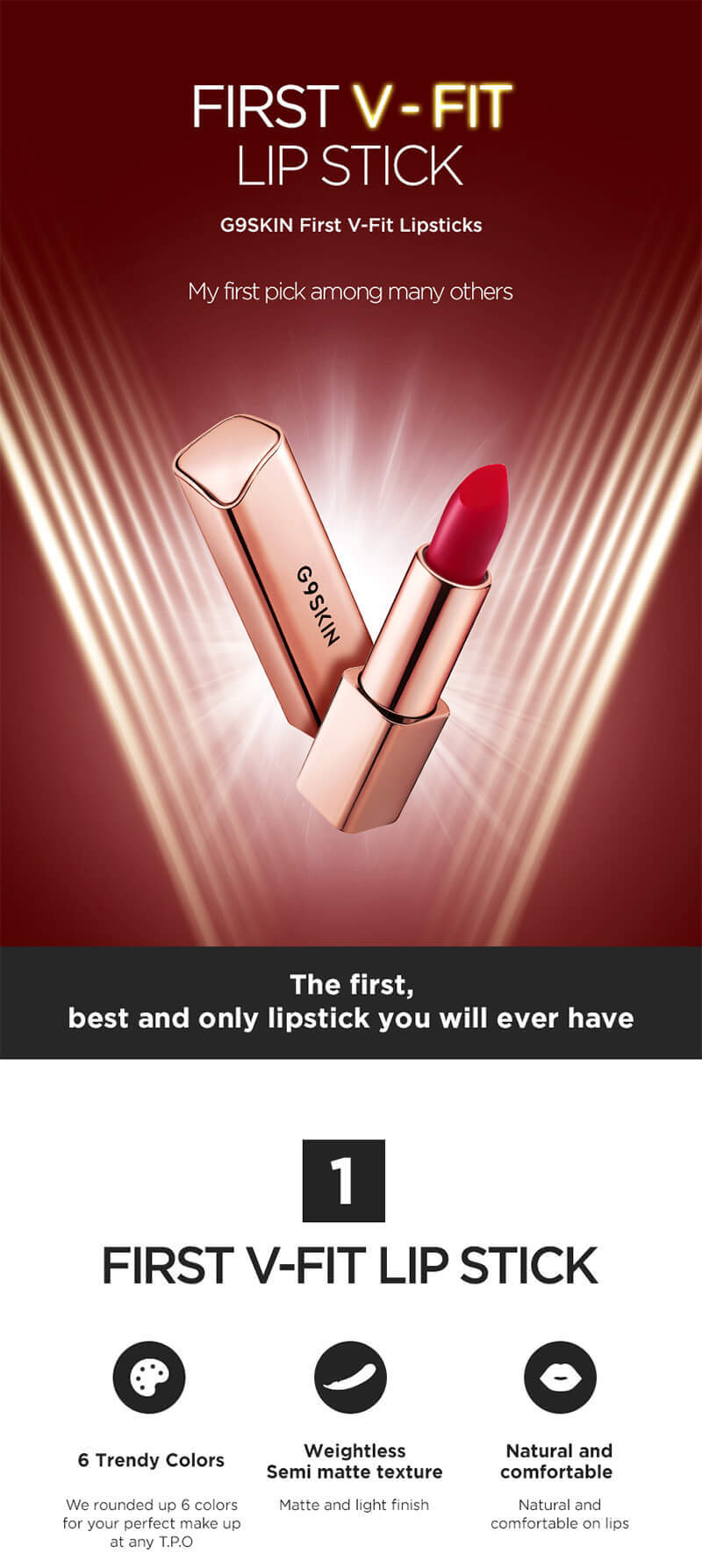G9 Skin First V-Fit Lipstick