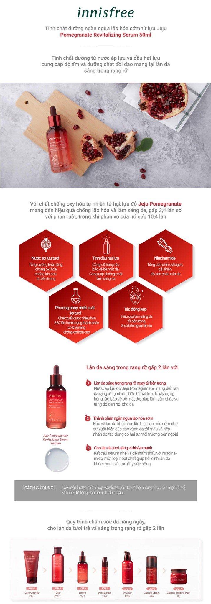 Innisfree Jeju Pomegranate Revitalizing Serum 50ml