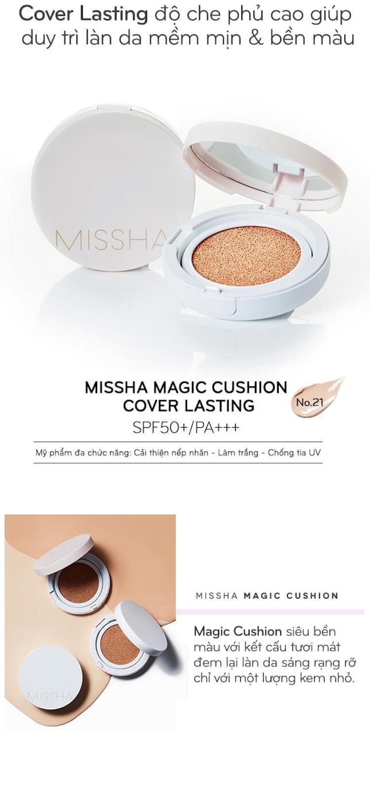 Missha Magic Cushion Cover Lasting SPF50+ PA+++