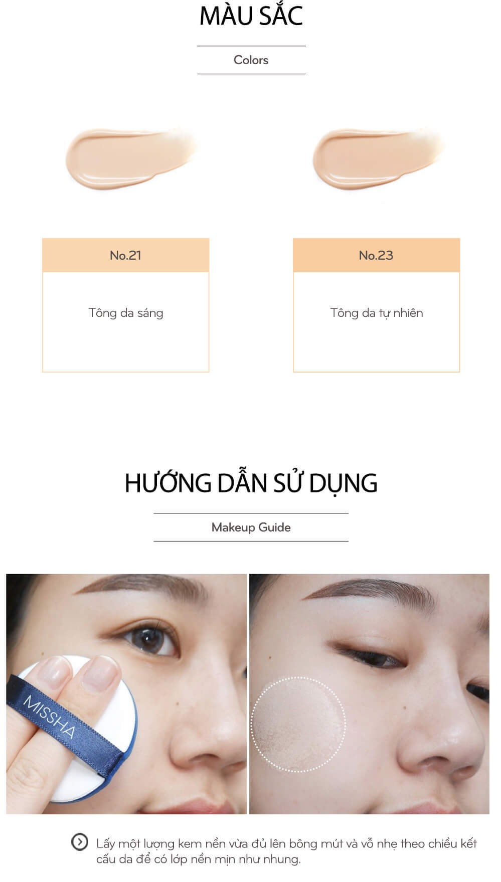 Phấn Nước Dưỡng Ẩm Missha Magic Cushion Moist Up SPF 50+ PA+++ 18g