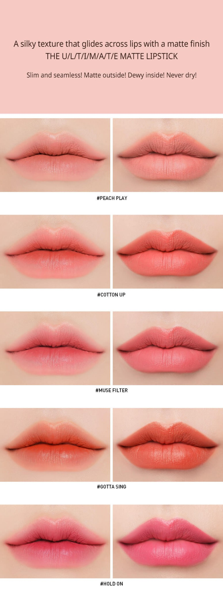 Son Thỏi 3CE Slim Velvet Lip Color #Hold On