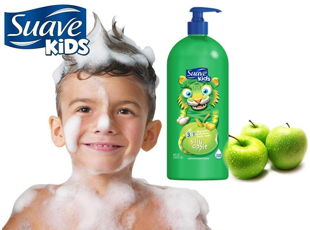 Suave Kids 3 in 1 Silly Apple 532ml