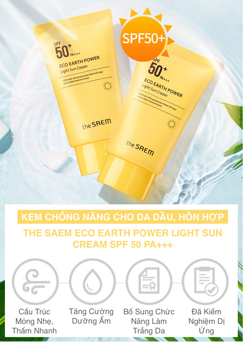 The Saem Eco Earth Power Light Sun Cream