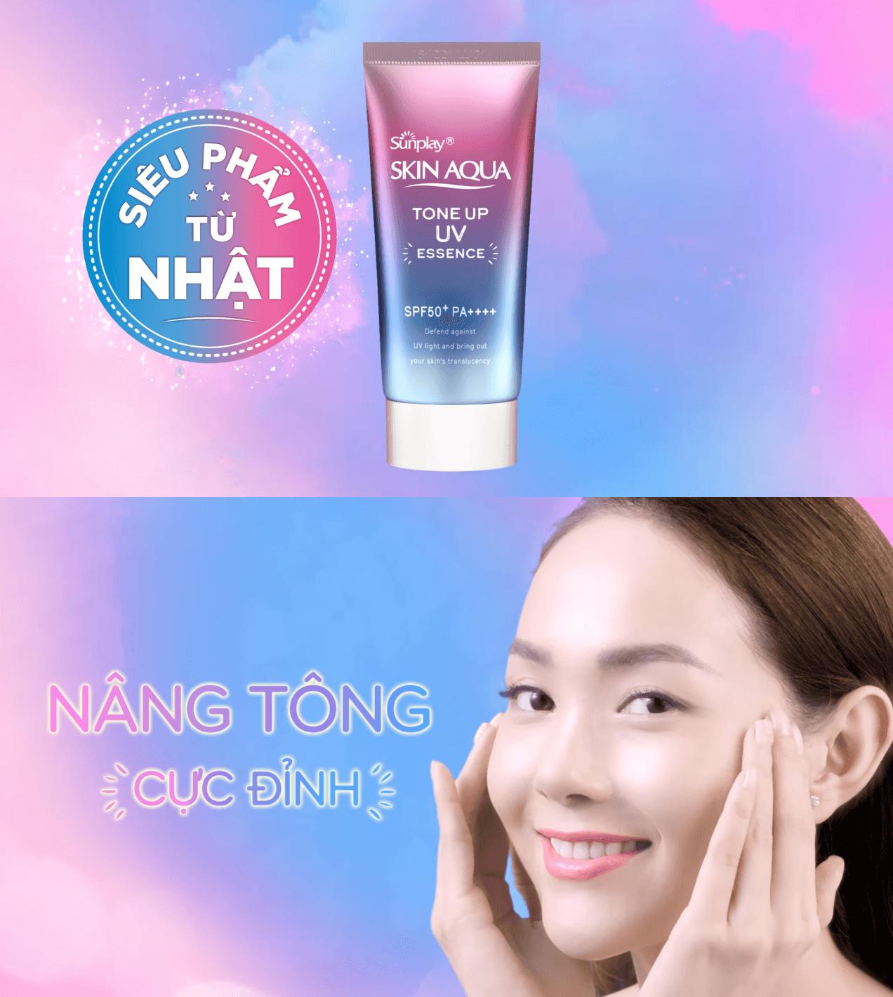 Tinh Chất Chống Nắng Hiệu Chỉnh Sắc Da Sunplay Skin Aqua Tone Up UV Essence SPF50+ PA++++ 50g