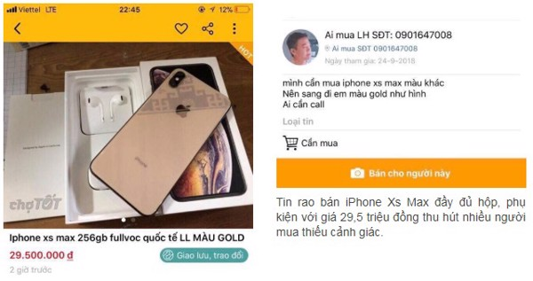 ban iphone xs max hai phong