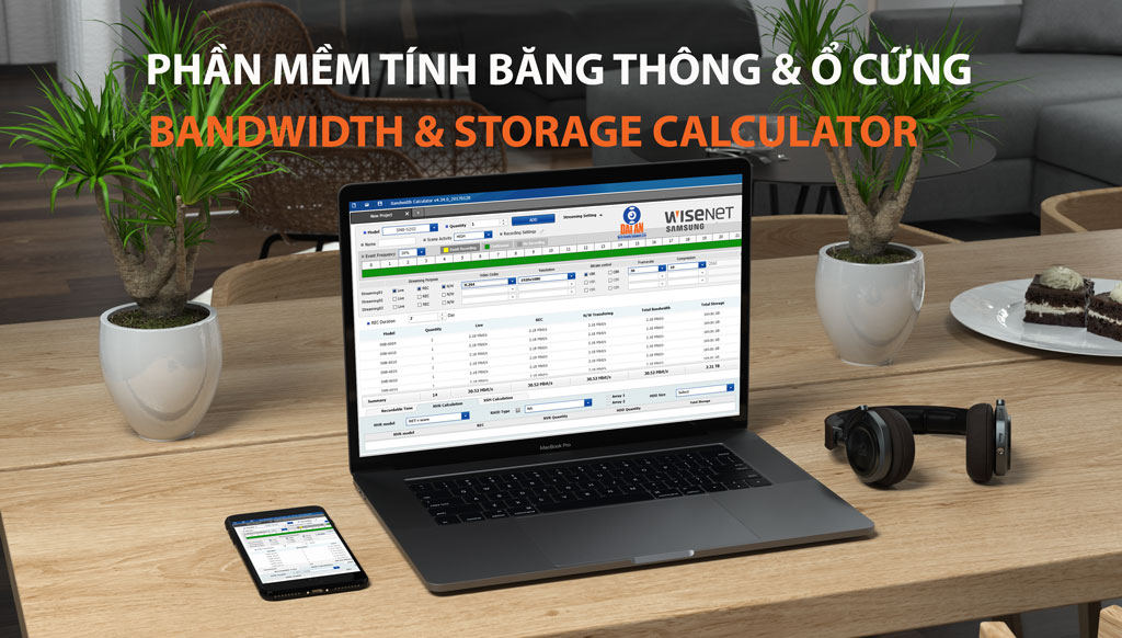 Bandwidth and storage calculator tinh bang thong ổ cứng camera