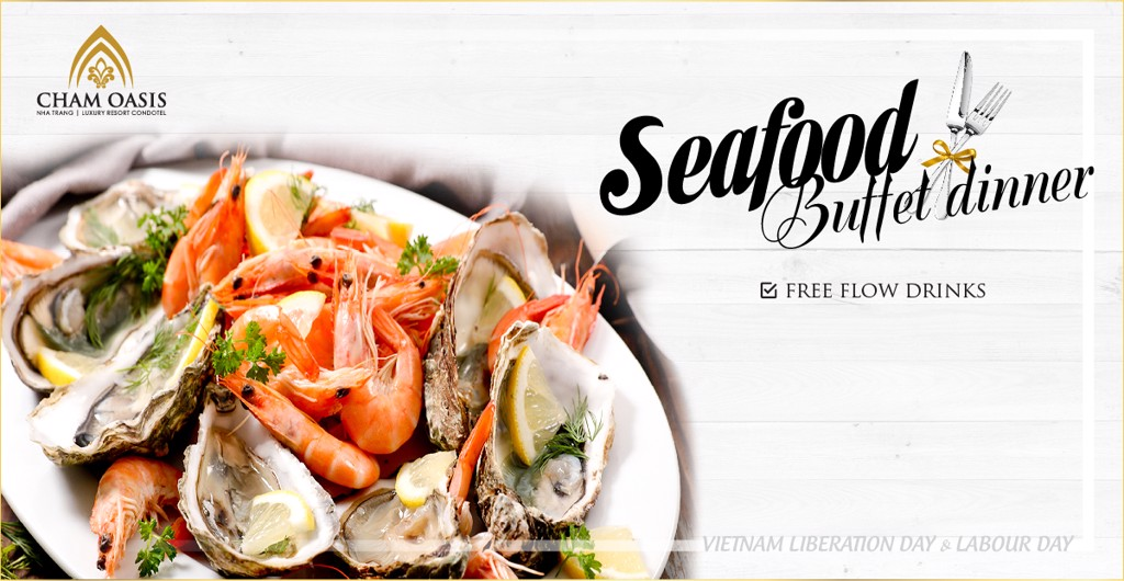 SEAFOOD BUFFET 30/4 AND 1/5