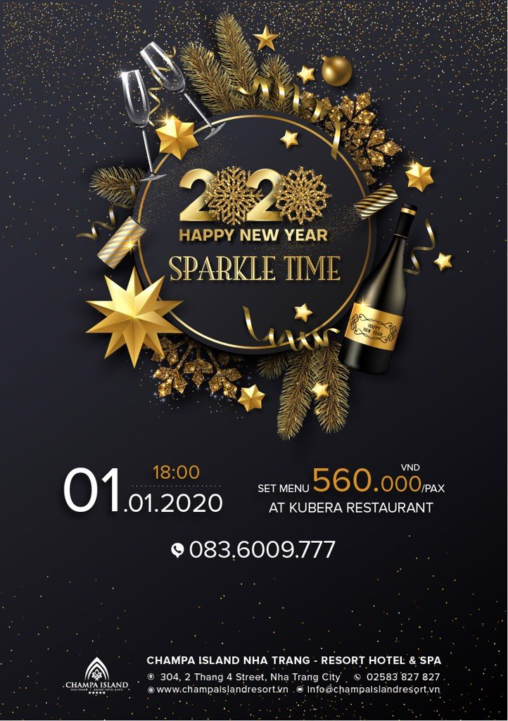 CELEBRATE THE FIRST DAY OF 2020 WITH SPARKLE TIME DINNER