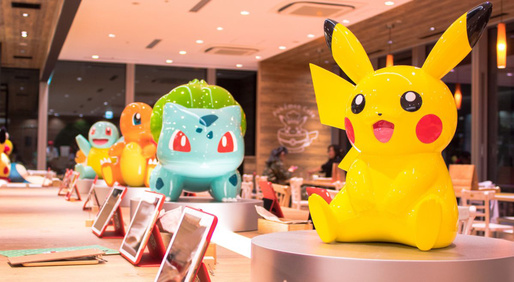 Bàn order Pokemon Cafe