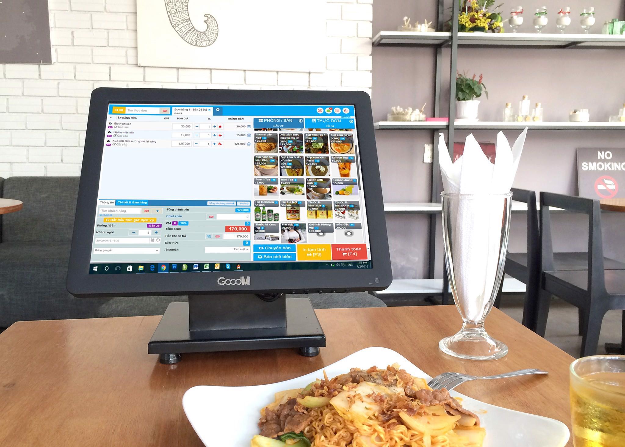 Máy tính tiền quản lý nhà hàng