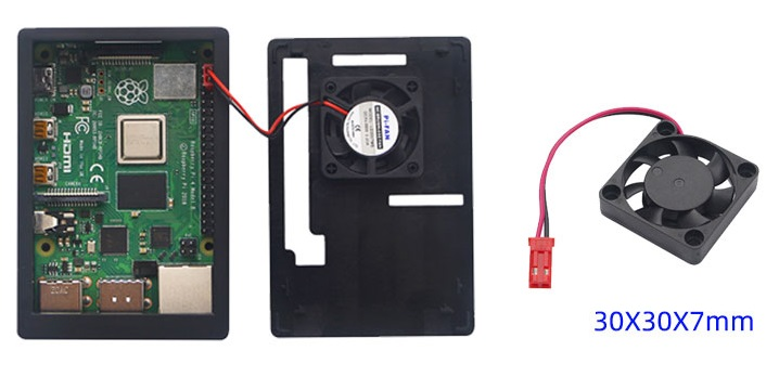 Vỏ Case Raspberry Pi 3 ABS V4 kèm quạt tương thích màn hình 3.5 inch