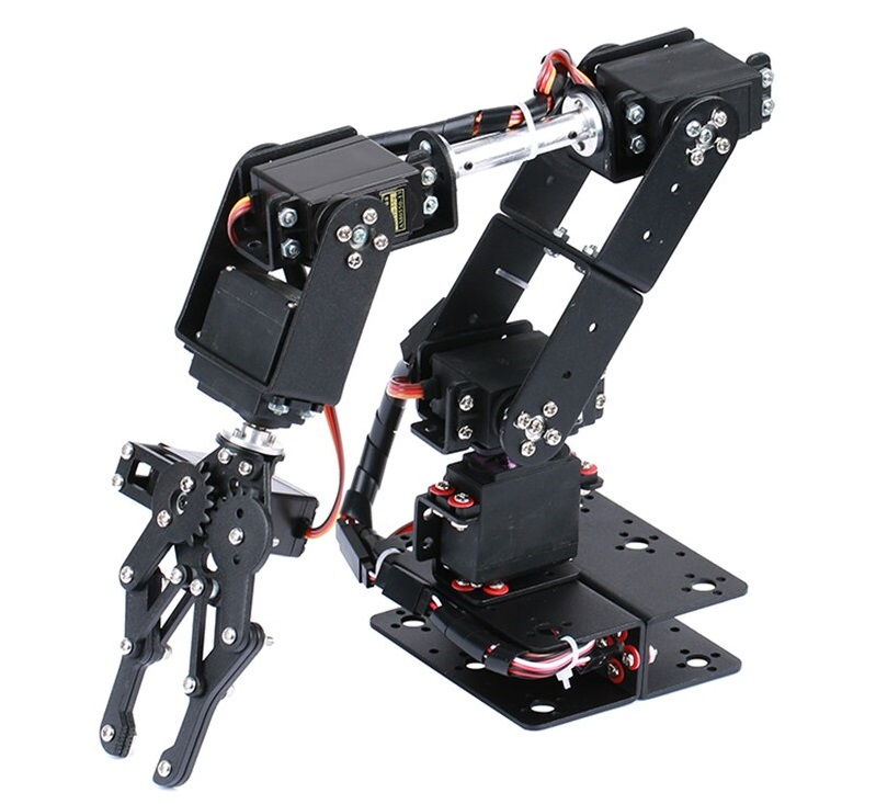 Khung cánh tay máy ARM Robot 6 DoF kim loại (không bao gồm động cơ RC Servo)