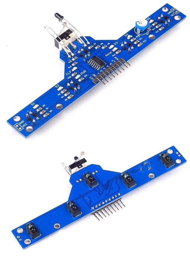 Thanh 5 cảm biến dò line TCRT5000 + tránh vật cản Line Follower Sensor BFD-1000