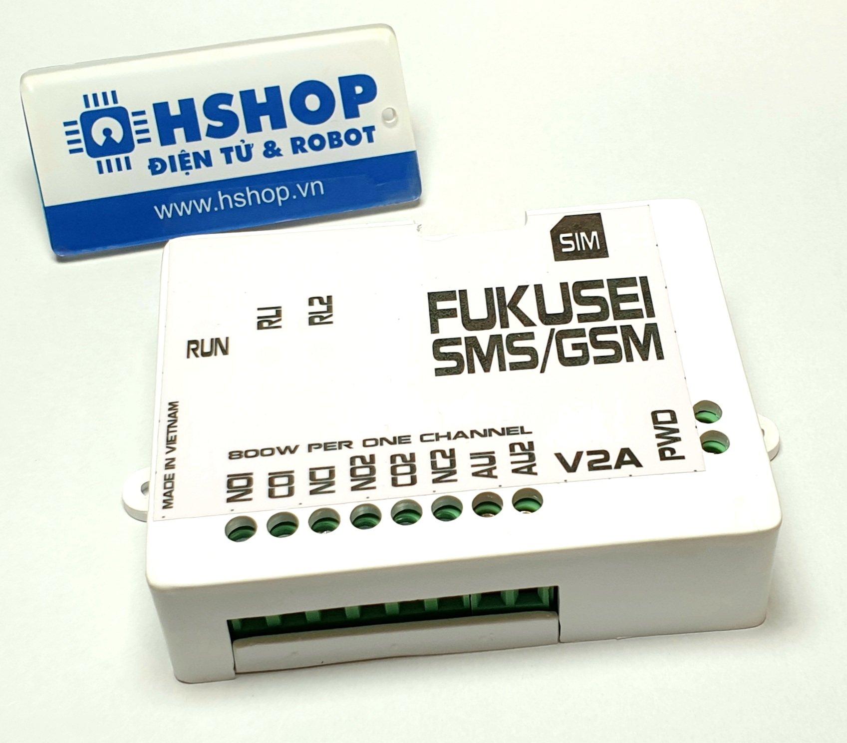Bộ điều khiển 2 thiết bị qua điện thoại GSM Fukusei