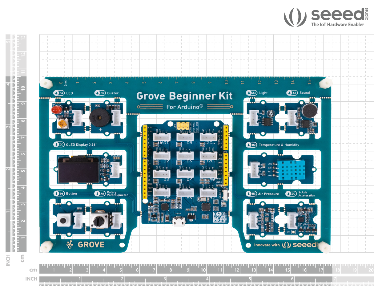 Bộ Grove - Beginner Kit for Arduino (New Version)