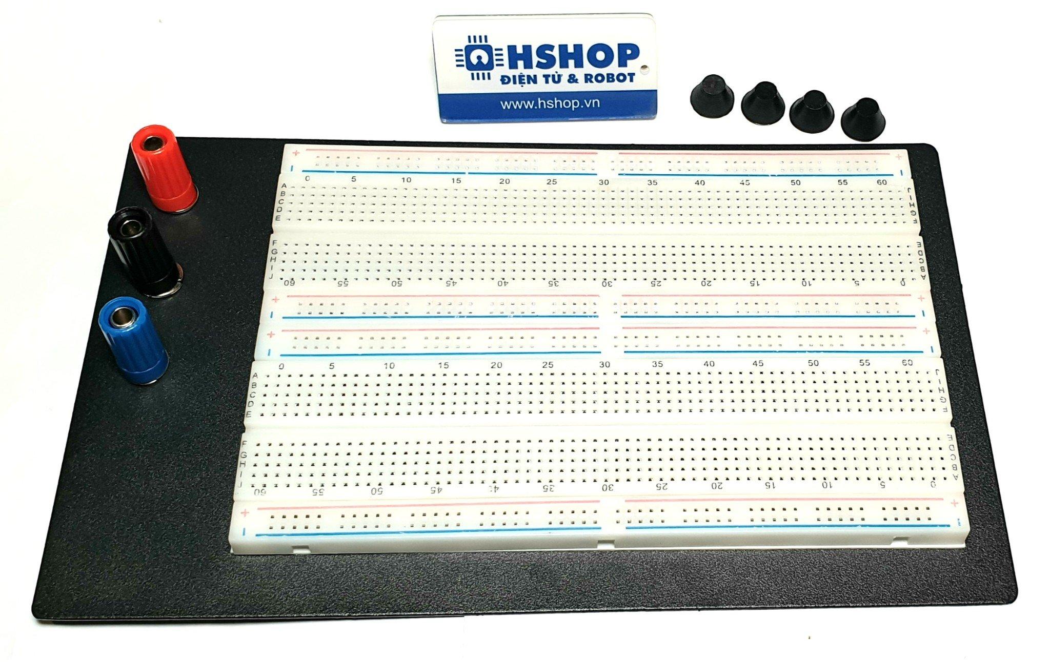 Breadboard ZY-204 1660 lỗ 165x110x10mm