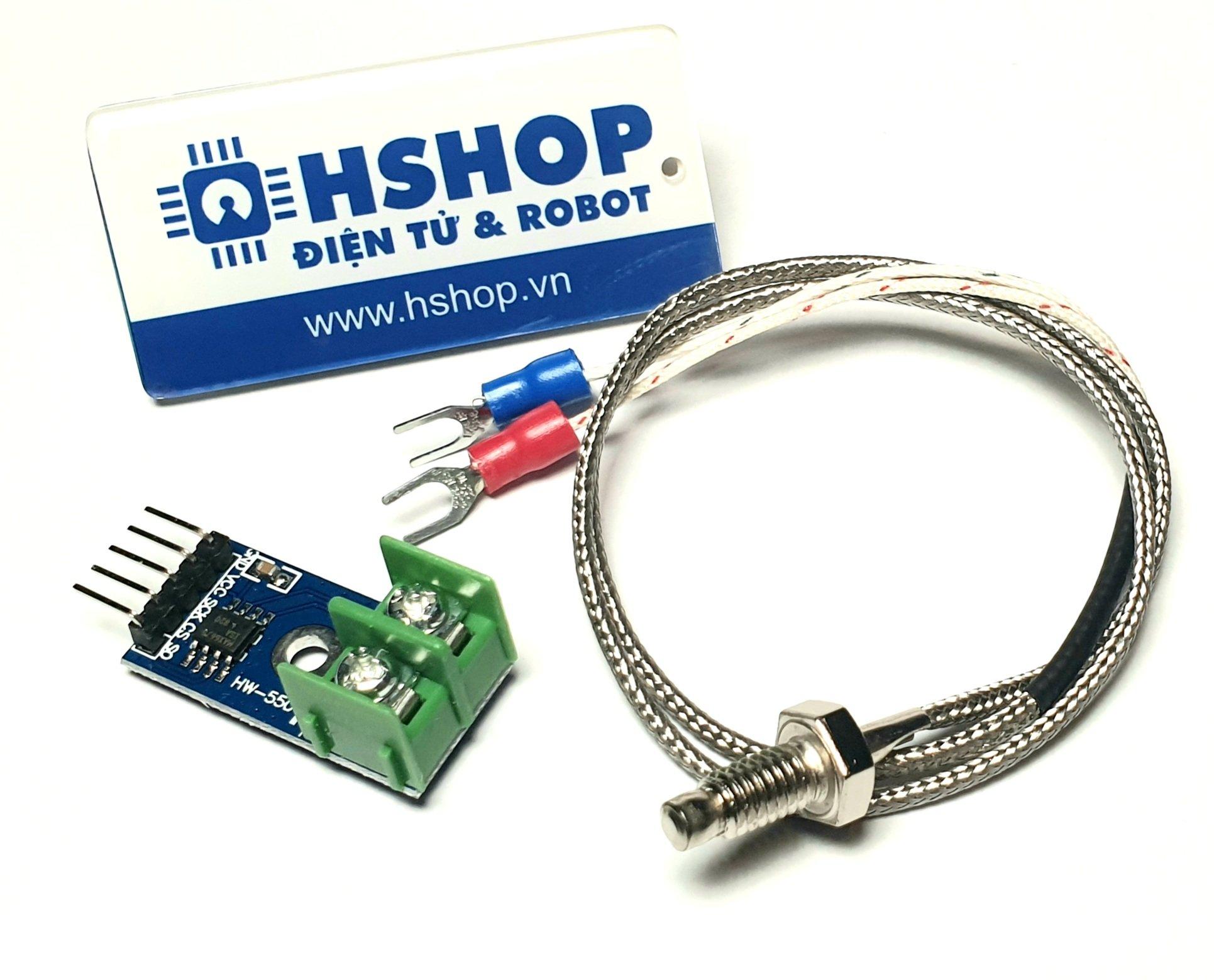 Cảm biến nhiệt độ Thermocouple RTD K Type kèm mạch MAX6675