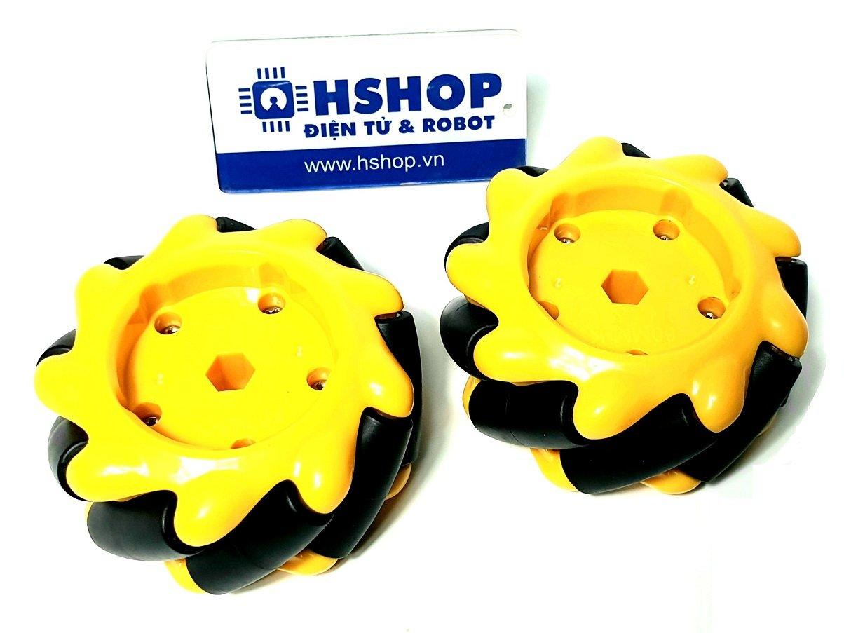 Cặp bánh xe Mecanum L + R nhựa đường kính 60mm
