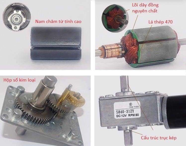 Động cơ DC giảm tốc 5840-31ZY High Torque Self-Lock DC Geared Motor