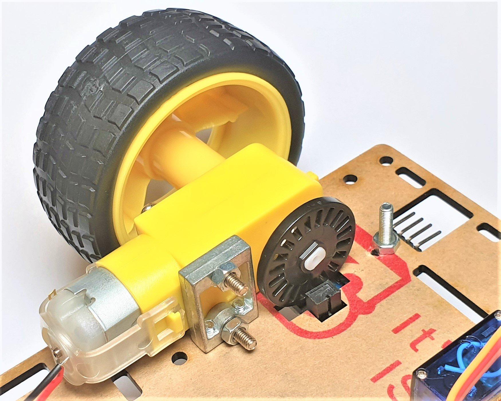Động cơ DC giảm tốc V1 Dual Shaft Plastic Geared TT Motor