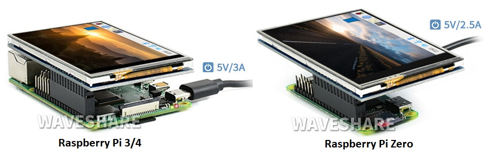 Màn hình Waveshare 3.5 inch Raspberry Pi High-Speed SPI Resistive Touch Display (C)