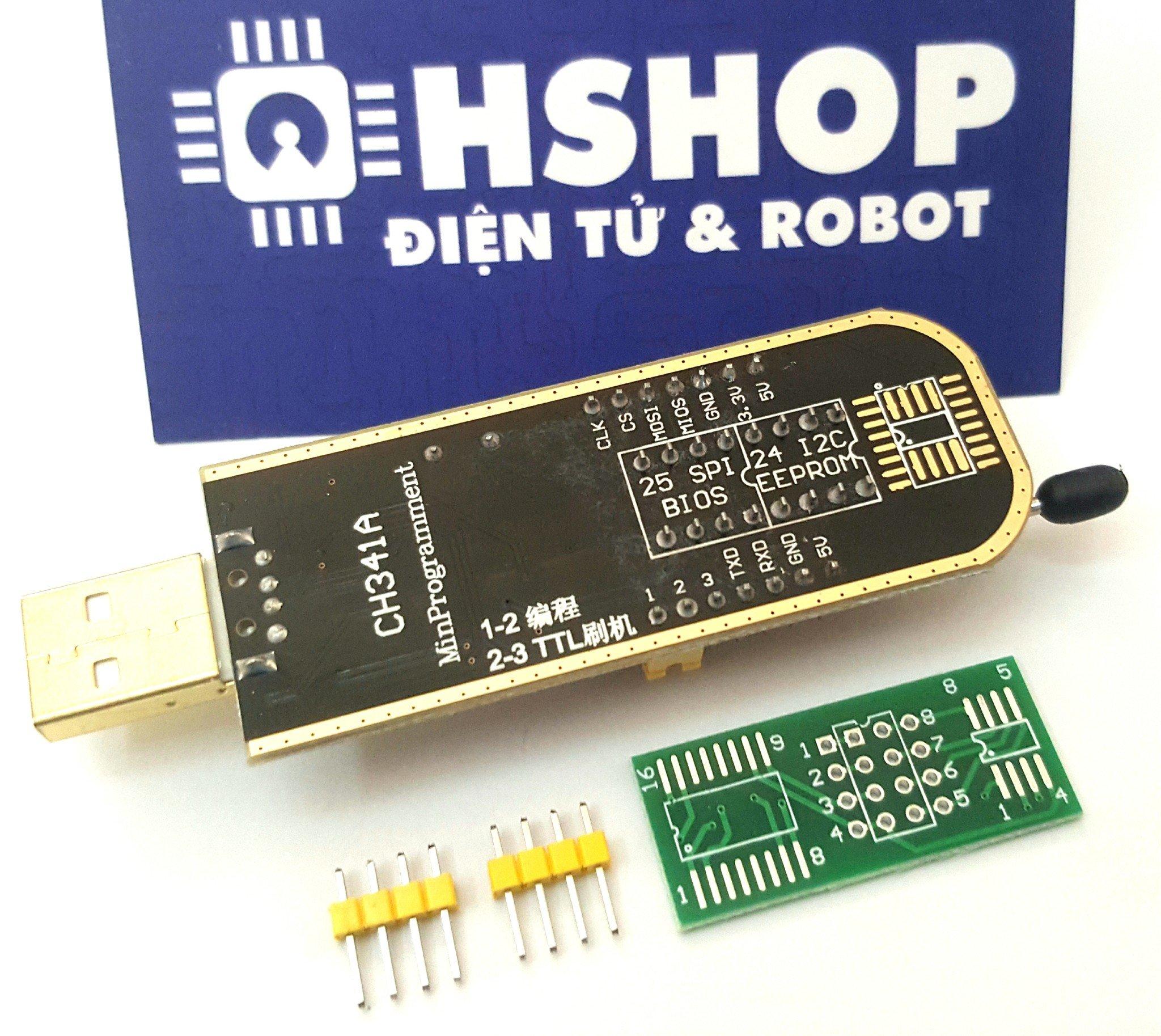Mạch nạp EEPROM Flash SPI CH341A Programmer – Hshop vn