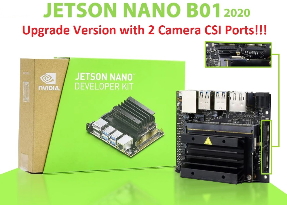 Máy tính AI NVIDIA Jetson Nano Developer Kit B01 (Upgrade Version with 2 Camera CSI Ports)