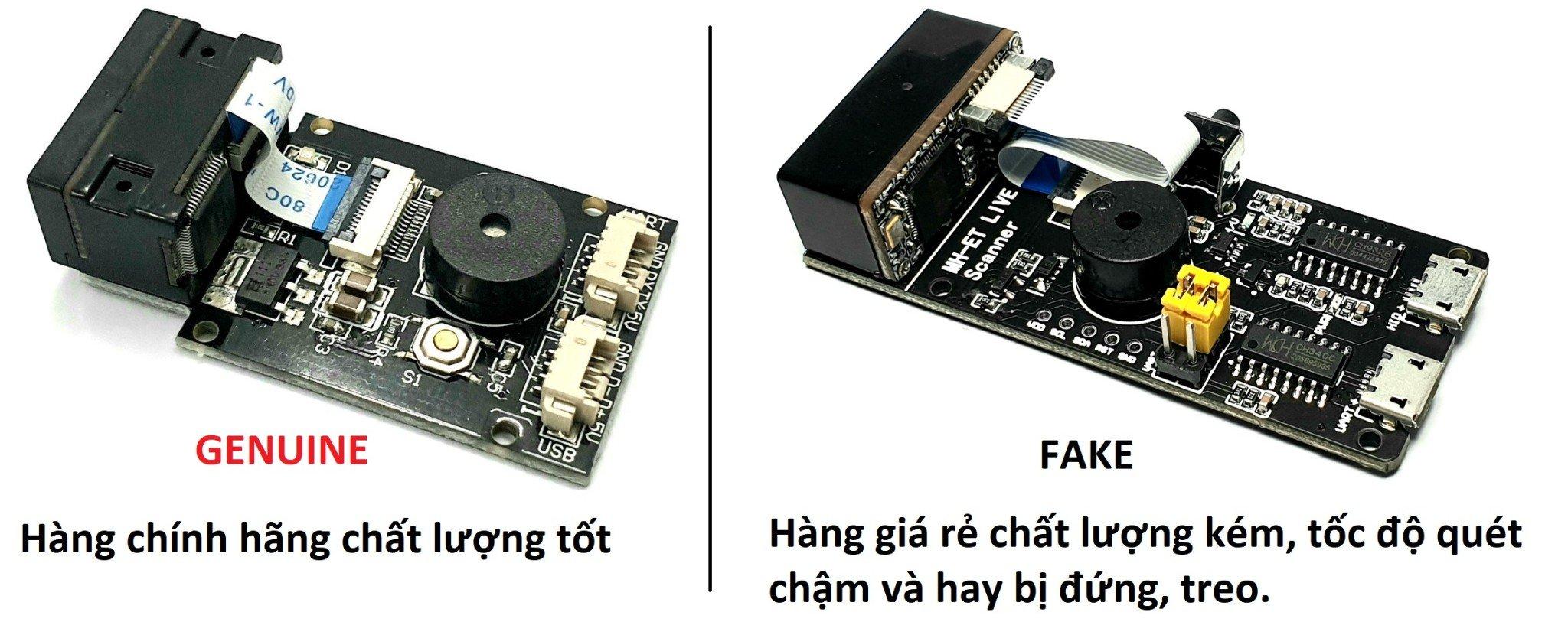 gm65 barcode scanner module fake