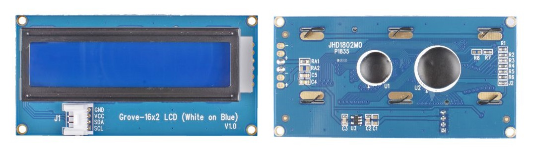 Grove - 16x2 LCD (White on Blue)