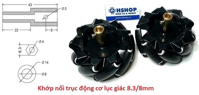 Khớp nối trục động cơ bánh xe Mecanum Wheel Motor Coupling