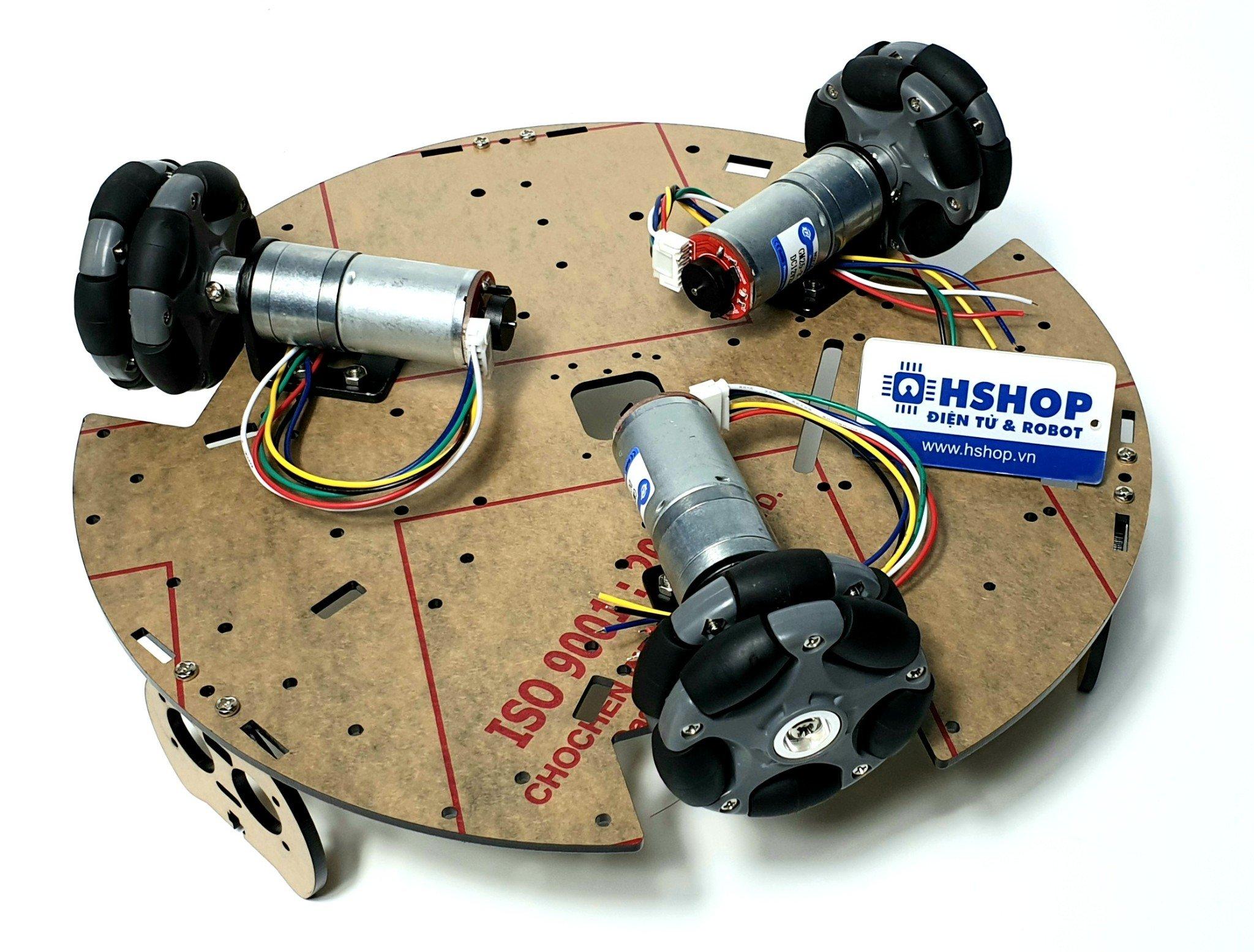 Khung xe Robot Chasiss 3HM Omni Wheel