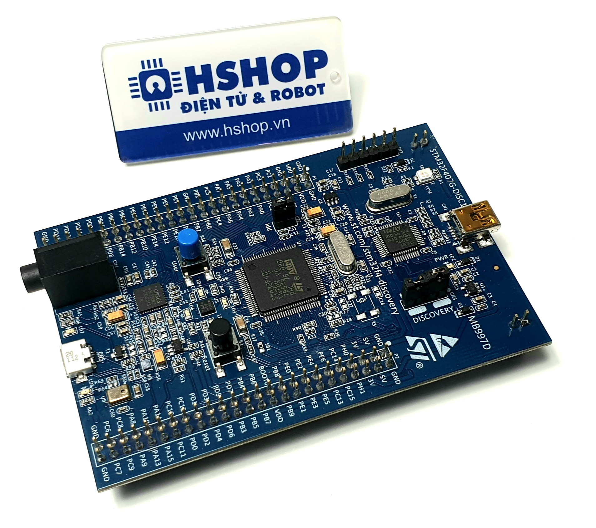 Kit STM32F407 Discovery (ARM Cortex M4 + DSP Core)
