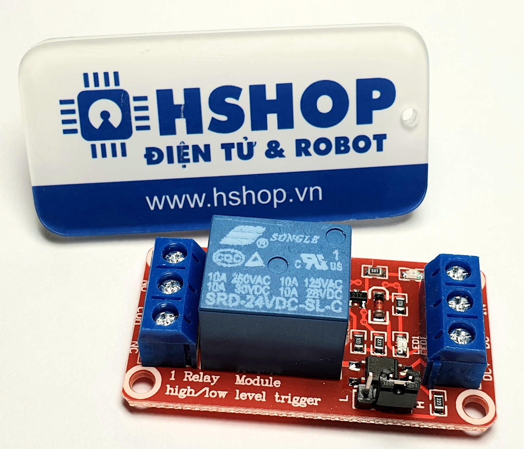 Mạch 1 Relay Opto chọn mức kích HighLow (5/12/24VDC)