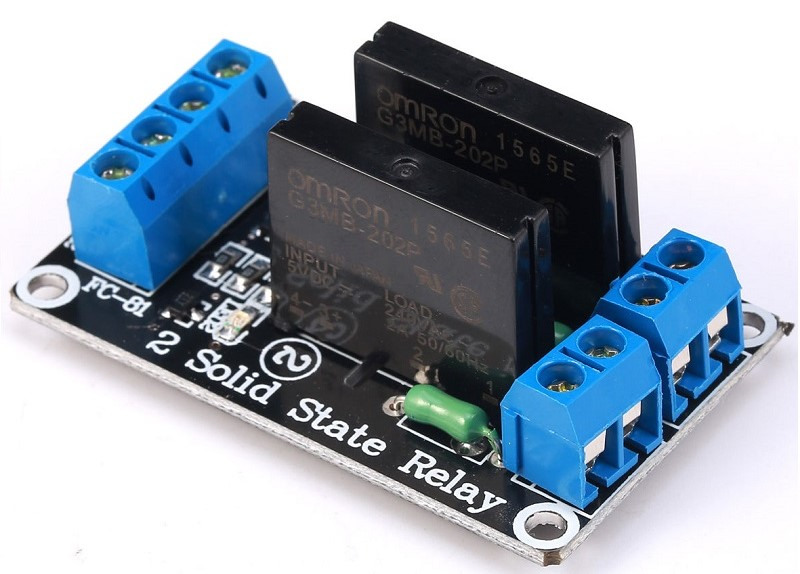 Mạch 2 Chanel Solid State Relay (SSR) 2A240VAC