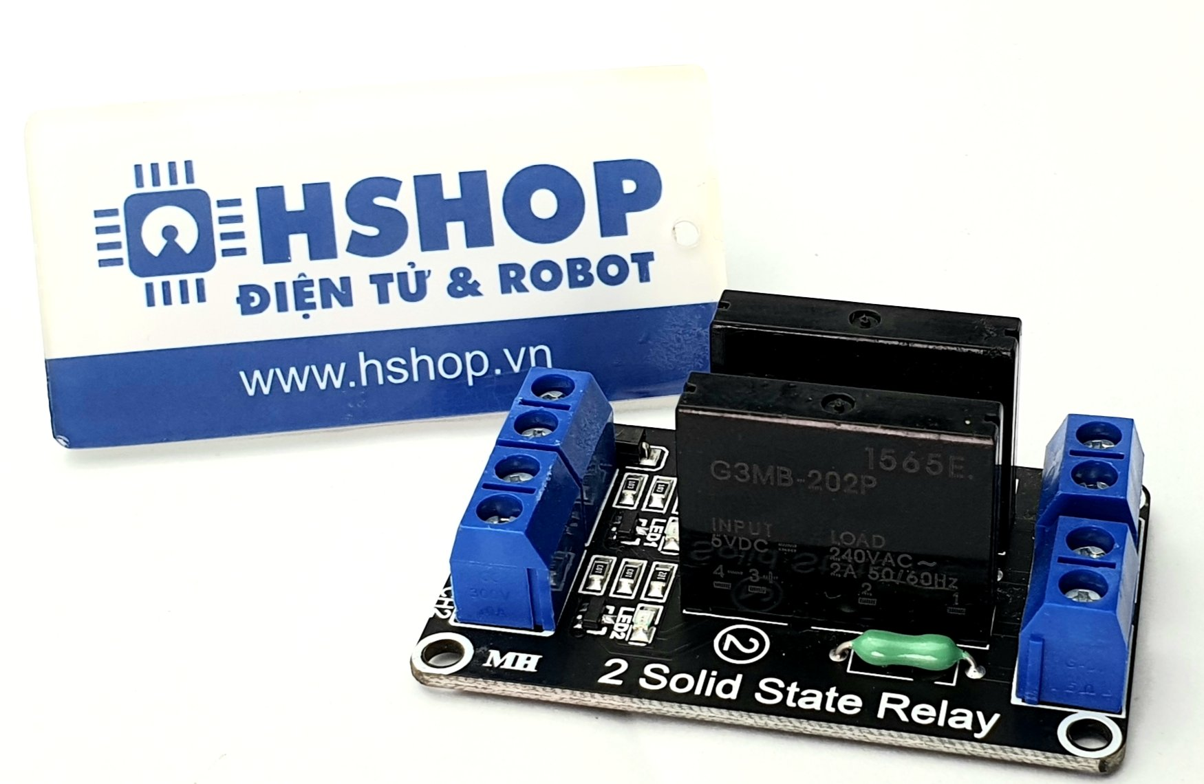 Mạch 2 Solid State Relay (SSR) 2A240VAC