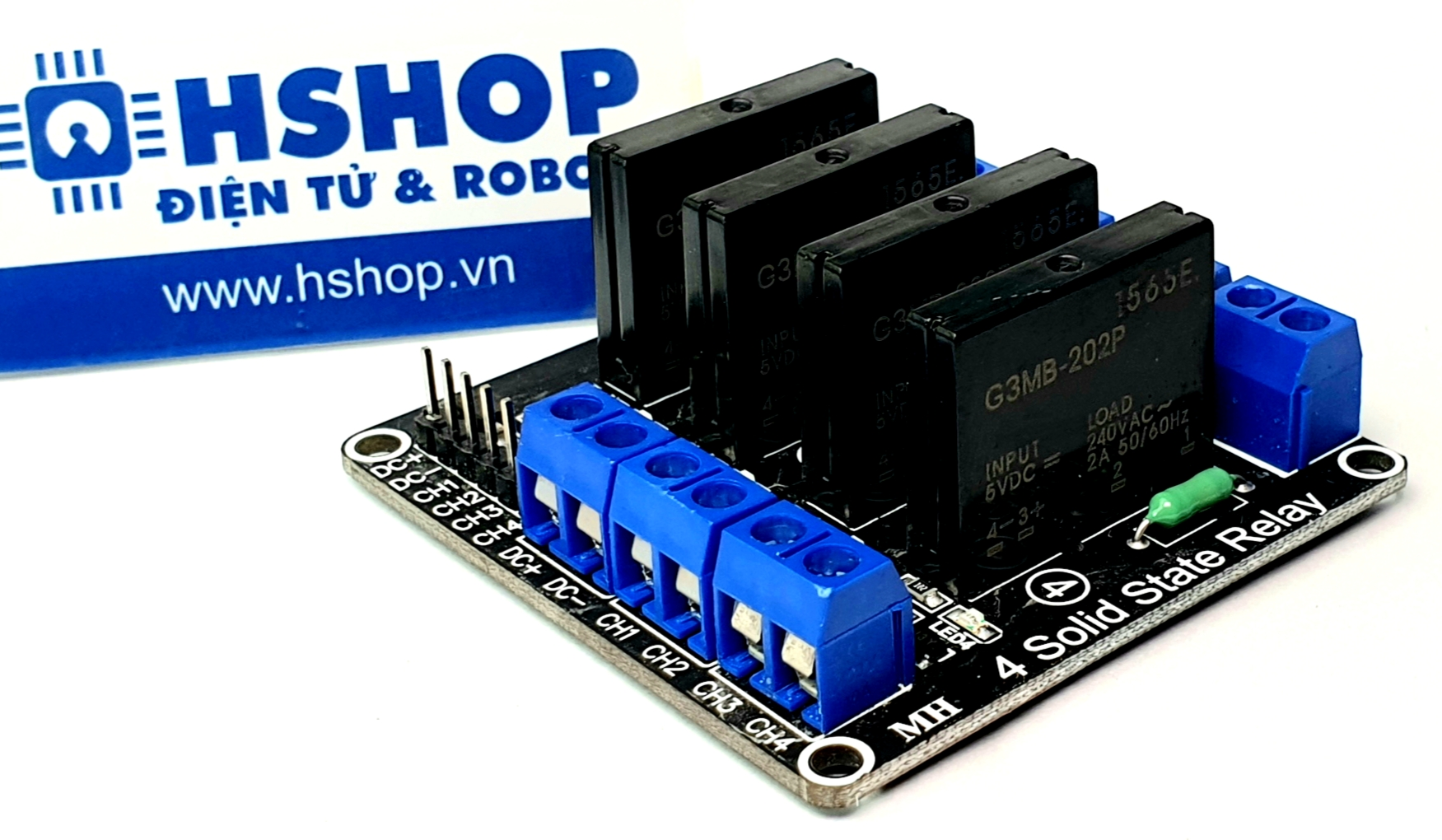Mạch 4 Solid State Relay (SSR) 2A240VAC